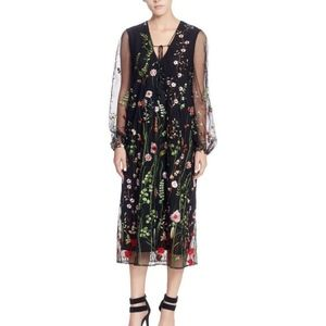 Catherine Malandrino Floral Embroidered Dress, NWT
